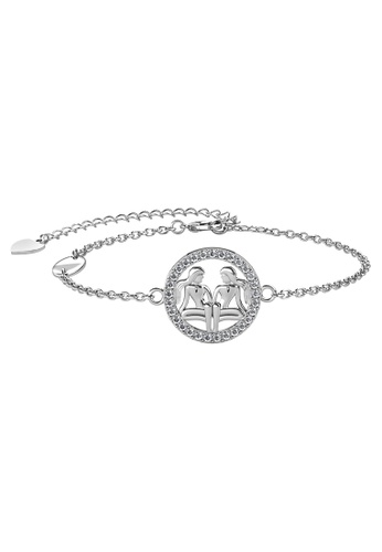 Her Jewellery white Her Jewellery 12 Horoscope Circlet Gemini Bracelet (White Gold) embellished with Crystals from Swarovski 9725DACC569BD3GS_1
