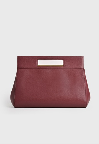 Tocco Toscano red The Essential Tent Clutch (Burgundy) 4A06CAC11A723BGS_1