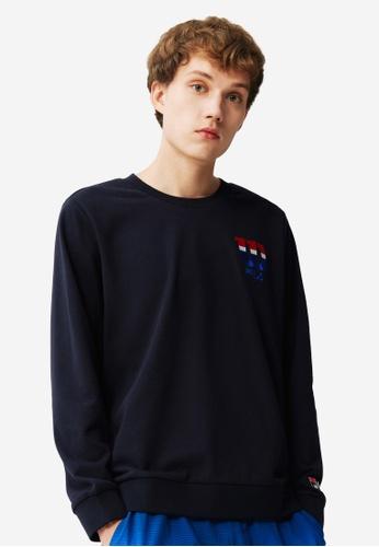 FILA navy FILA x Wilson Logo Sweatshirts 5A15DAA5FDFED6GS_1