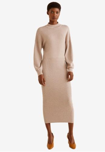 MANGO grey Knit Long Dress 27051AAED84001GS_1