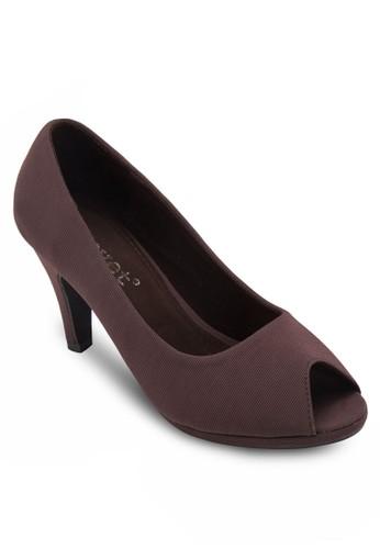 魚口布料esprit 台中高跟鞋, 女鞋, 魚口鞋