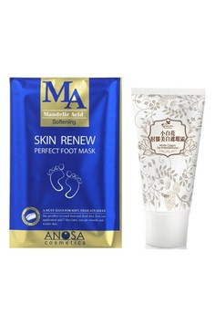 Skin Renew Foot Mask +Cream For Knee And Elbow