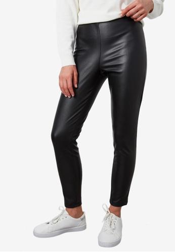 LC Waikiki black PU Trousers A1749AA6B40BF9GS_1