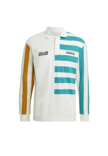 ADIDAS white adidas Originals Girls Are Awesome Long Sleeve Shirt Polo Unisex 42AD2AA3386315GS_1