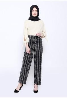 10% OFF delarosa Celana Muslim - Long Pant Tenun Black white Rp 250.000  SEKARANG Rp 225.000 Ukuran M XL a7f78b12fd