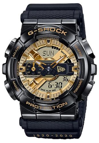 G-shock 黑色 and 金色 CASIO G-SHOCK METAL x NEW ERA 限量版 GM-110NE-1A 182B6ACBB4BC78GS_1