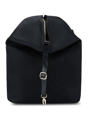 NUVEAU black Nylon Backpack 5252BACFEE31CBGS_1