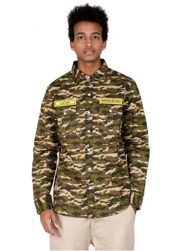 Reoparudo 綠色 RPD 迷彩魔術貼徽章裇衫(軍綠色) FC3A5AA75AC243GS_1