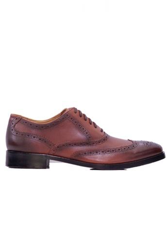 Gino Mariani brown Gino Mariani Men's Leather Shoes VALDIN 1 - DK BROWN 5B2C0SH492F93CGS_1