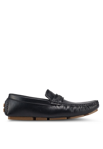 UniqTee 黑色 Casual Slip On With Web Strap 40C05SH9C1FDFBGS_1