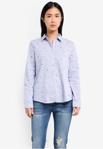 ESPRIT blue Woven Long Sleeve Blouse ES374AA0SJQ1MY_1