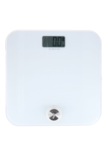 JVD JVD Lifestyle Dyna Digital Personal Scale - Battery Free, White. 25D14HLEA1BEDEGS_1