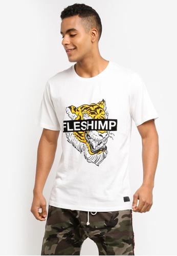 Flesh IMP 白色 Caspian Felt Print T-Shirt 1C057AAD131441GS_1