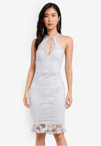 Lipsy silver Sequin Embroidered Dress LI571AA0S9XFMY_1