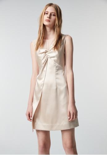 iROO gold Asymmetric Style Dress 4EC4FAA24C42F7GS_1