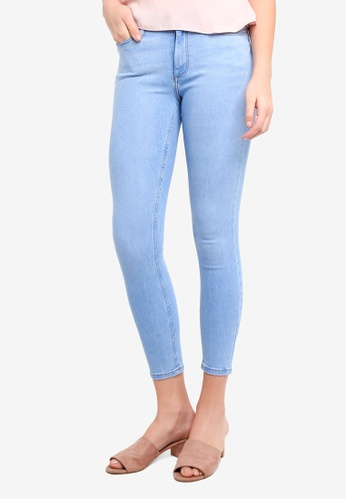 Miss Selfridge blue Pale Buzzy Bery Lizi Jeans 589D6AA359ECE0GS_1