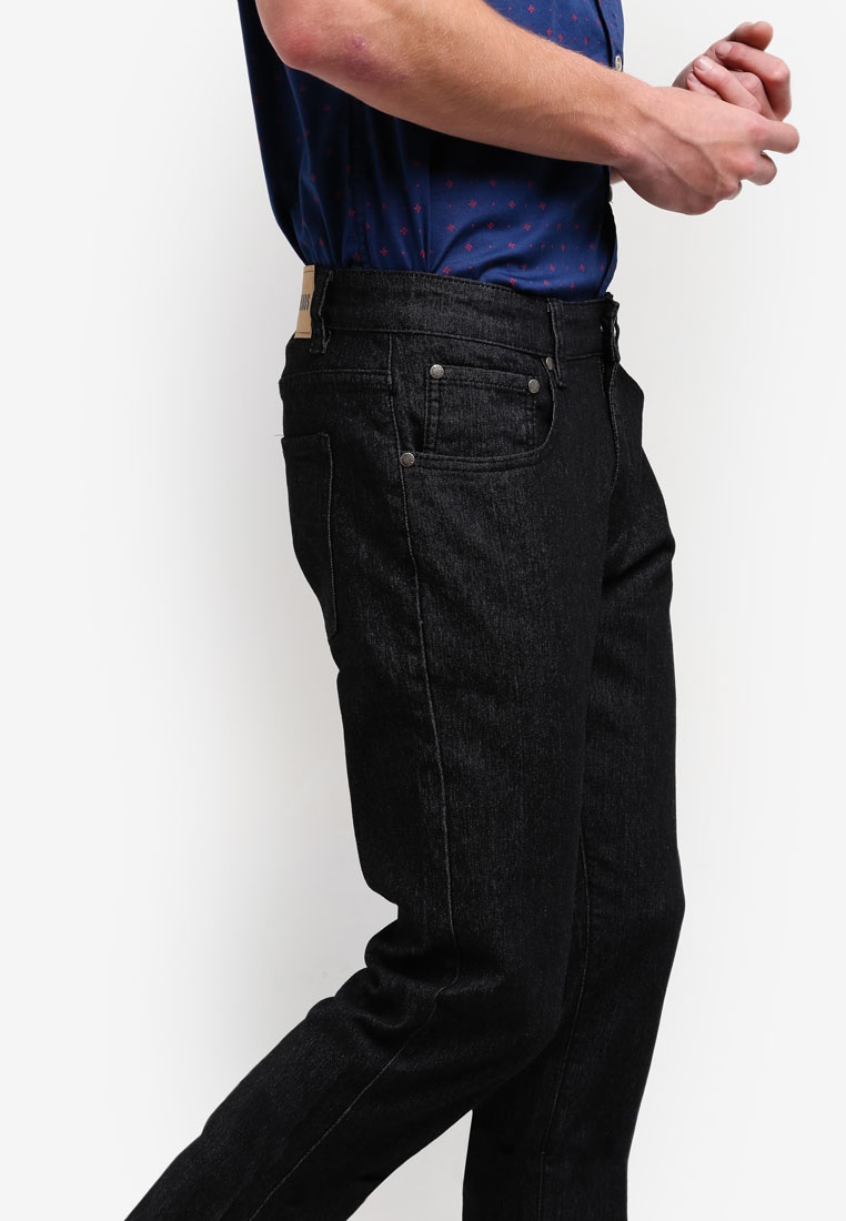 Black Jeans threads produce Slim Straight the by Y8g7qw