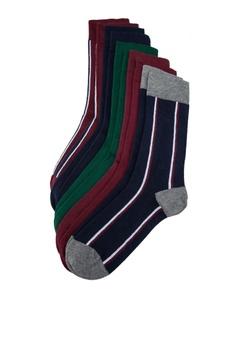 7c3d32b700a0d Burton Menswear London multi 5 Pack Assorted Colour Vertical Striped Socks  B4F64AA643A31CGS_1