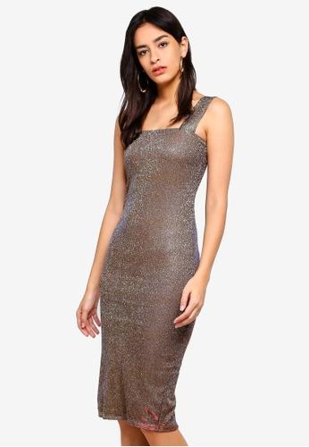 Bardot gold Mimi Sparkle Dress 381FFAAAC89836GS_1