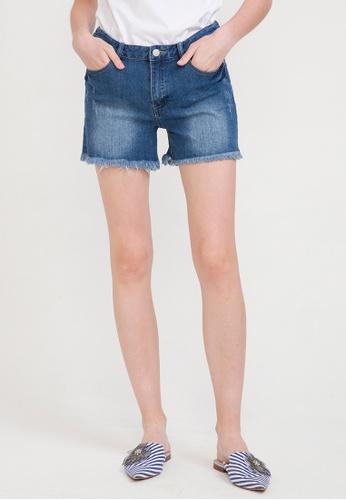 Bossini blue Ripped Denim Shorts 219A2AAC876533GS_1
