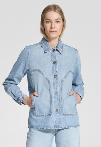 Nobody Denim blue Renewed Shirt Jacket 6E454AAB02301EGS_1