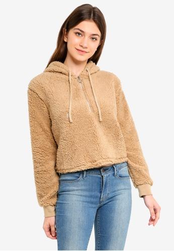 Cotton On brown Teddy Hoodie FA440AAF7CC220GS_1