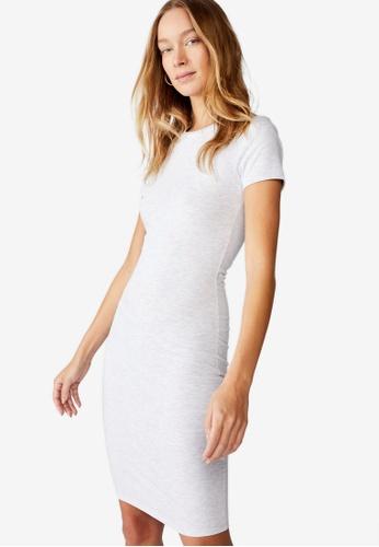 Cotton On grey Essential Short Sleeve Mini Dress 9E732AA786A69EGS_1