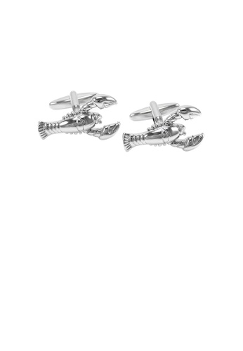 Glamorousky silver Fashion Personality Lobster Cufflinks 240CBACC193677GS_1
