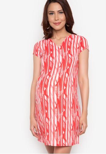 BUNTIS red Anna Maternity Dress BU698AA92XVRPH_1