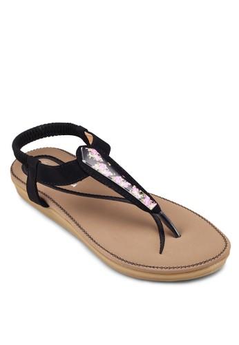 彈性踝帶夾腳esprit outlet 家樂福涼鞋, 女鞋, 涼鞋