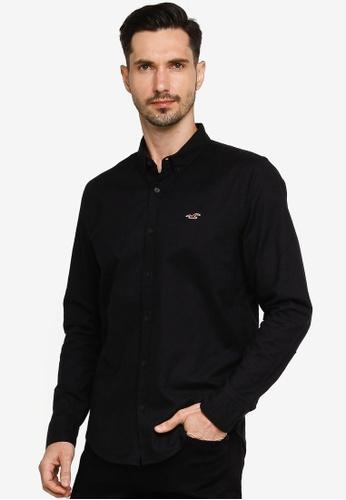 Hollister black Slim Shirt 44A9EAAAFEFB4FGS_1