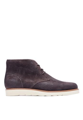 Life8 brown Formal Waterproof Leather Desert Boots-09684-Brown LI283SH0GP0JSG_1