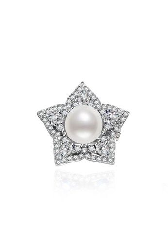 Pearly Lustre silver Pearly Lustre Elegant Garden by the Bay Freshwater Pearl Brooch WC00009 0C603ACBA52044GS_1