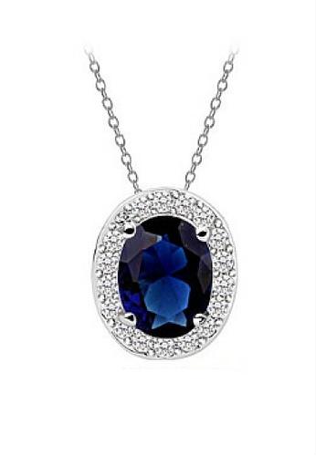 Vivere Rosse blue Oval Necklace VI014AC98JOJMY_1