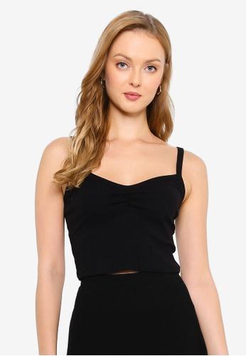 Supre black Ruby Ruched Cami Top 521DAAADE57A12GS_1