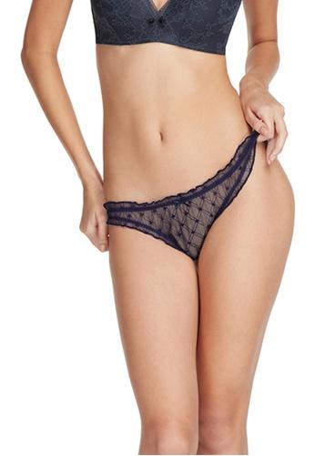 6IXTY8IGHT grey BIBI CHECK SOLID, Jacquard Mesh Bikini brief PT09797 9F9A2US2616B0EGS_1
