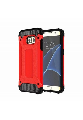 best sneakers fba65 5613a Tech Armor Tough Case for Samsung Galaxy S7 Edge (Red)