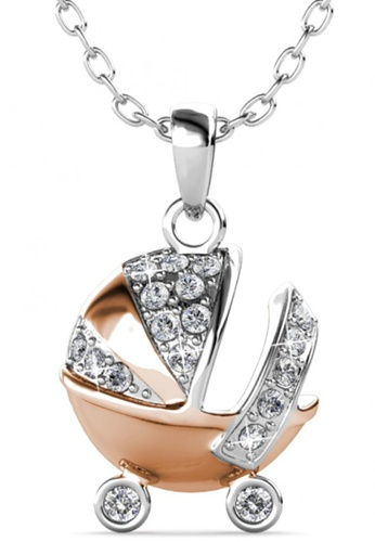 Her Jewellery silver Her Jewellery Baby Stroller Pendant with Necklace Chain with 18K Gold Plated 4FE37ACF34C10EGS_1