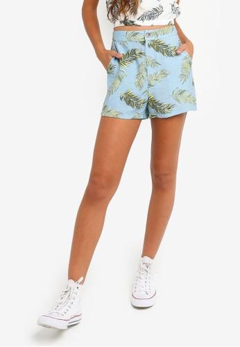 Something Borrowed 藍色 High Waist Tailored Shorts 524DCAA0BD66B1GS_1