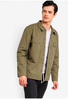 d07ef7d19e4d8 J.Crew beige Classic Cotton Nylon Herringbone Camp Collar Shirt Jacket  8EA50AA49C6DE3GS 1