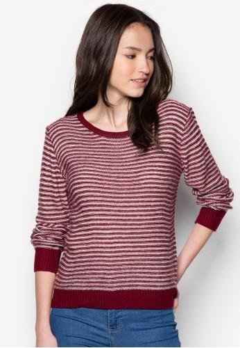撞色條紋長袖織衫, esprit 台北服飾, 服飾