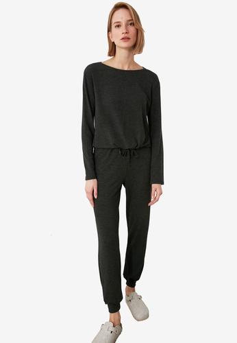 Trendyol grey Knit Pajama Set 1BCF9AA5E7F526GS_1