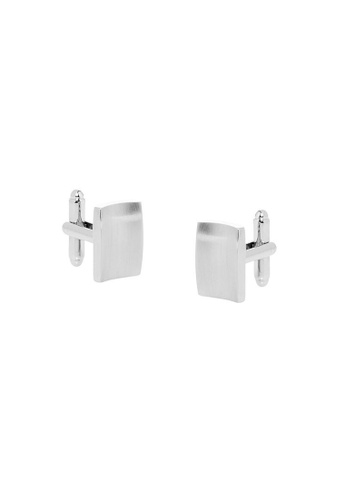 Buckle silver Rectangle Nickel Polished Smooth Cufflinks F49D3AC77659D9GS_1