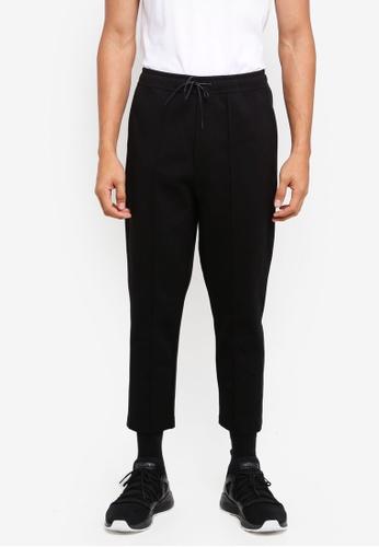 AT TWENTY black Pintuck Sweatpants B4A60AA543266AGS_1
