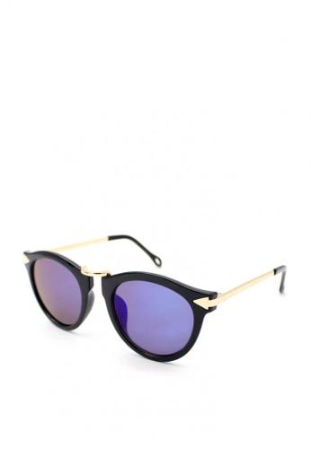 Peculiar and Odd black Peculiar Premium Round 8001 Semi- Mirrored Sunglasses D2122GLCABCA8DGS_1