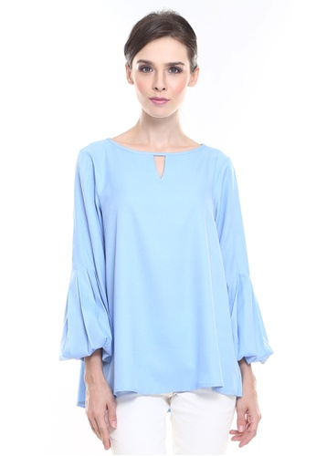 e678bf50f48e1c Rina Nichie Basic blue Belle Top in Baby Blue DC534AA6F38D32GS 1
