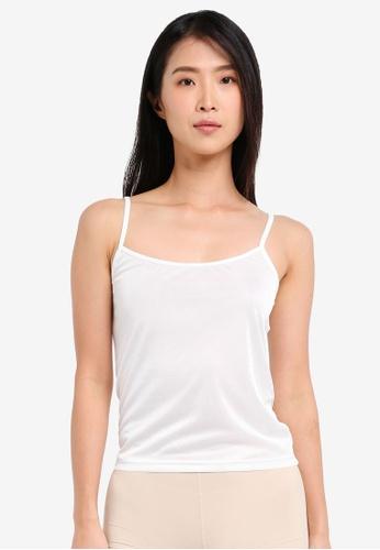 Impression white U-Neck Camisole Innerwear IM679US0SHUNMY_1