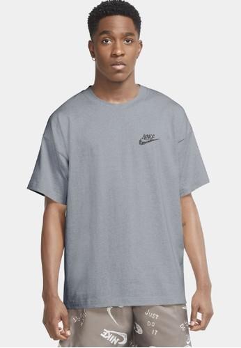 Nike black AS Men's Sportswear Essentials Short-Sleeve Top Jersey 878B8AA1F9B0E2GS_1