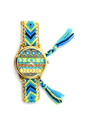 World of Watches multi Ethnic Pattern-B Crochet Strap Watch 002 WO566AC30UDXPH_1