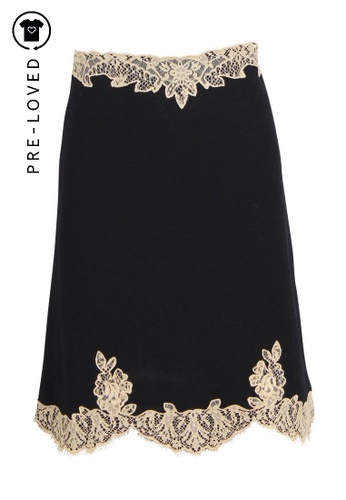 Red Valentino black Pre-Loved red valentino Black Skirt with Lace 63EF6AABC7FC28GS_1